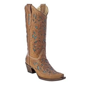 Corral Turquoise Inlay Western Boot (size 8)
